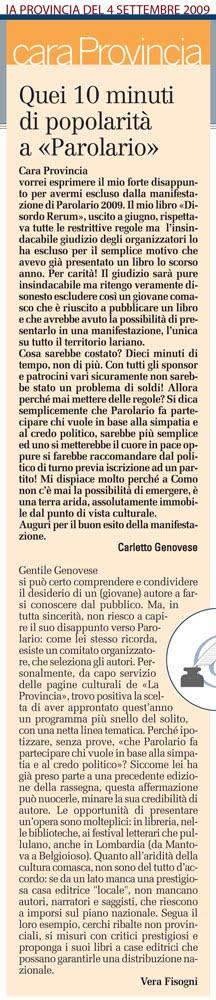 Read more about the article La notorietà a Parolario