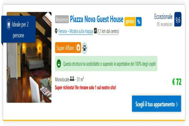 Read more about the article Piazza Nova Guest House Ferrara (II parte)