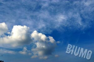 The clear blue sky above my head